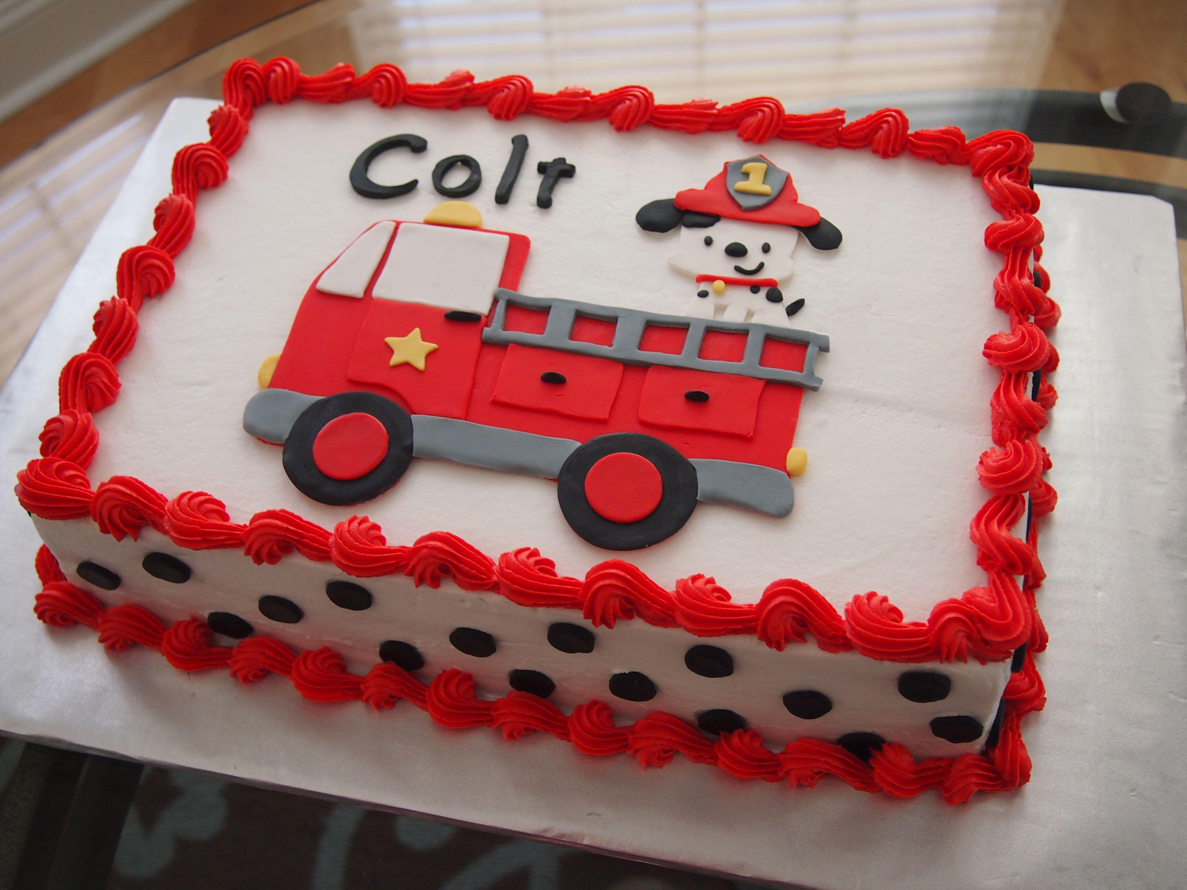 Firefighter Birthday Sheet Cake Roxi Bakes Pinterest