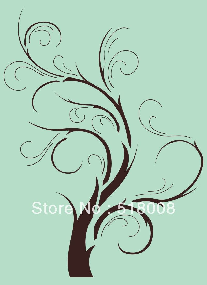 Tree branch home decor wall stencil template pattern for Wall decor templates