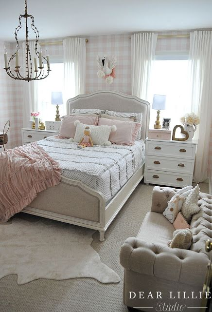 Dear Lillie Lillie S Room With A New Chandelier Country Bedroom Decor French Country Bedrooms French Country Decorating Bedroom Lillie room with new chandelier