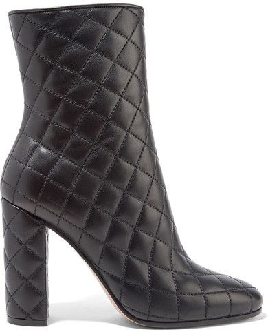 eb1fee321 GIANVITO ROSSI Quilted leather boots // BLACK BOOTS // BLACK BOOTIES ...
