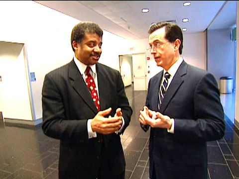The Colbert Report: Neil de Grasse Tyson teaches Stephen Colbert how to be an astrophysicist. This is awesome.