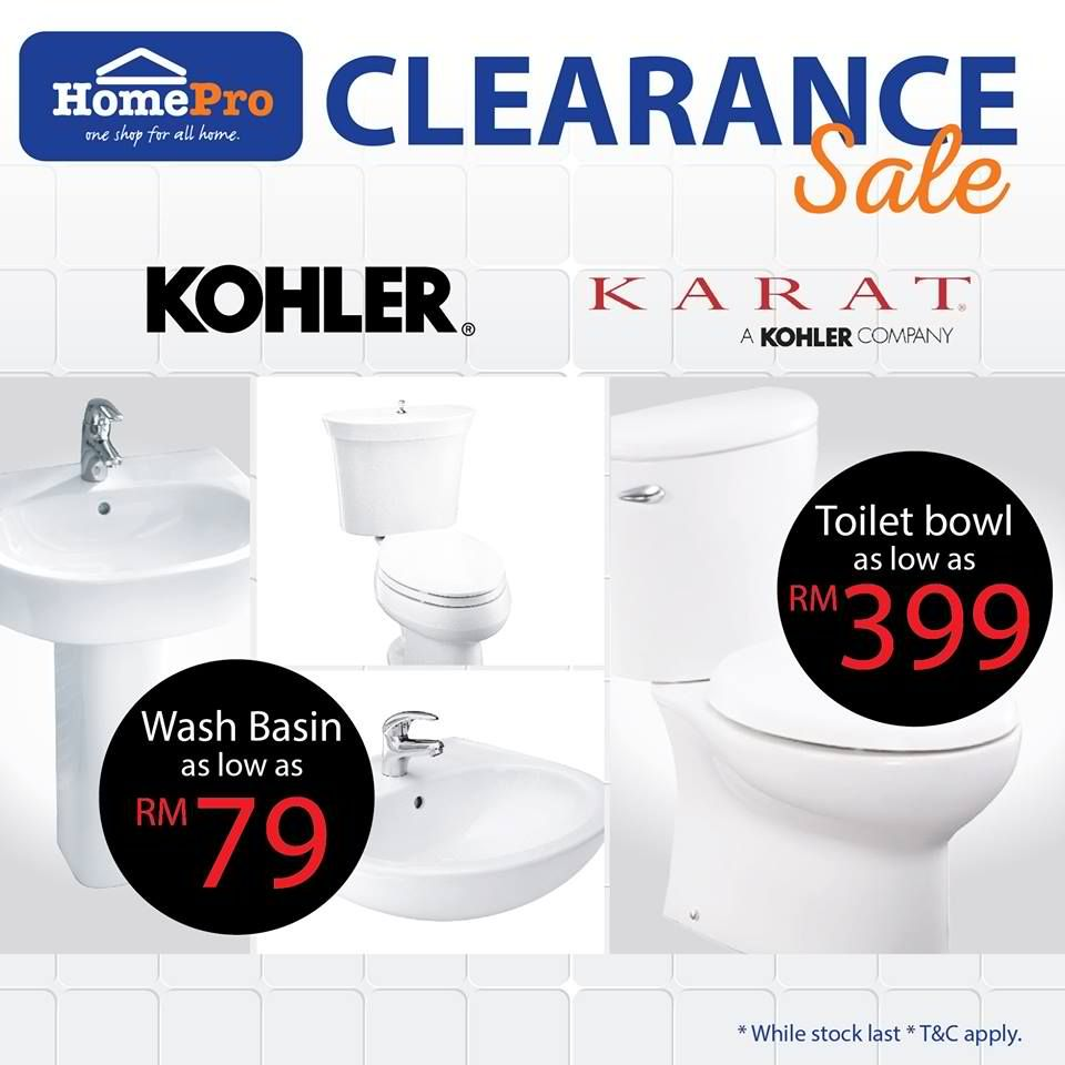 26 Aug-4 Sep 2016: Homepro Kohler and Karat brand Clearance SALE ...
