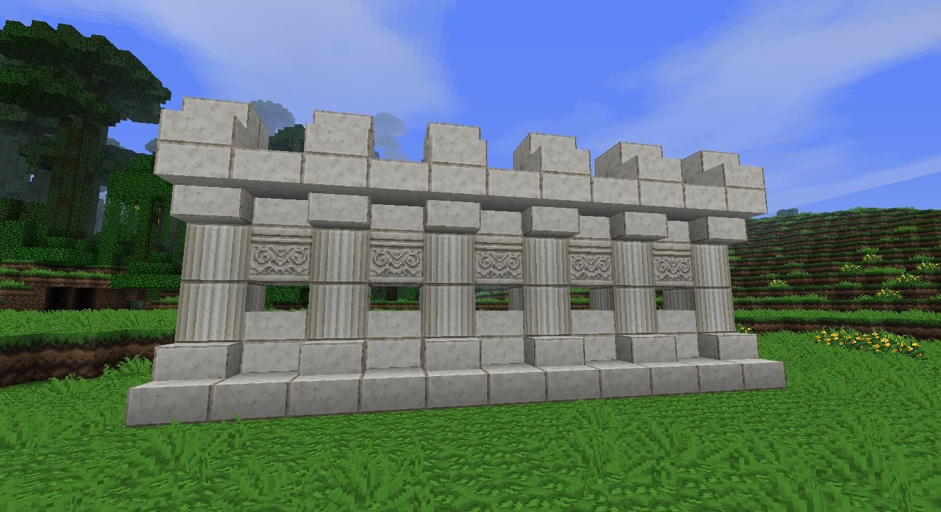 Minecraft Quartz Wall Design I Believe Shown With The Natural Texture Pack