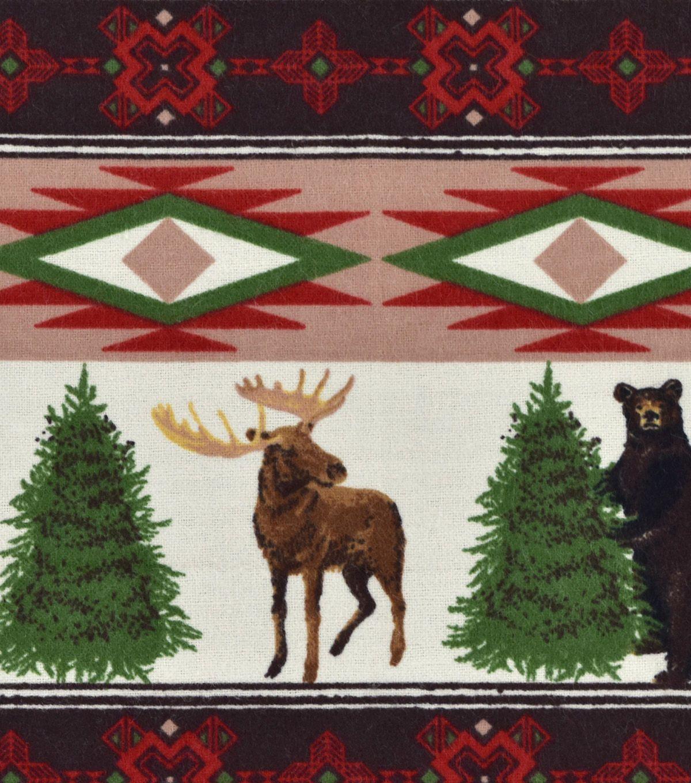 Red flannel fabric  Snuggle Flannel Fabric uuWintertime Animal u Stripe  Fabrics and