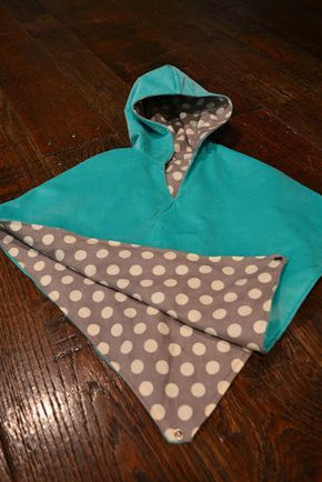 poncho pattern - with hood. back can be flipped up to go into carseat without having to put coat on and off. #babyponcho