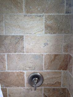 Tumbled Travertine In Shower Bathroom 8x16 Tile Pico Chiseled