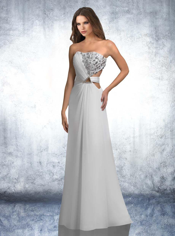 spring 2013!! Strapless beaded dress, side Grecian drape