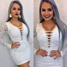 ed548e3a4 Vestido Decote Sexy Ousado Stl Maria Gueixa Panicat Sexy | L A U R A ...