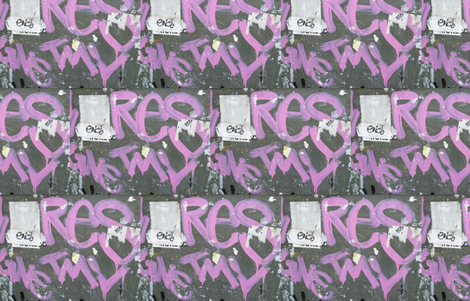 Almost Pretty in Pink fabric by susaninparis on Spoonflower - custom fabric Photo of street tagging, Paris