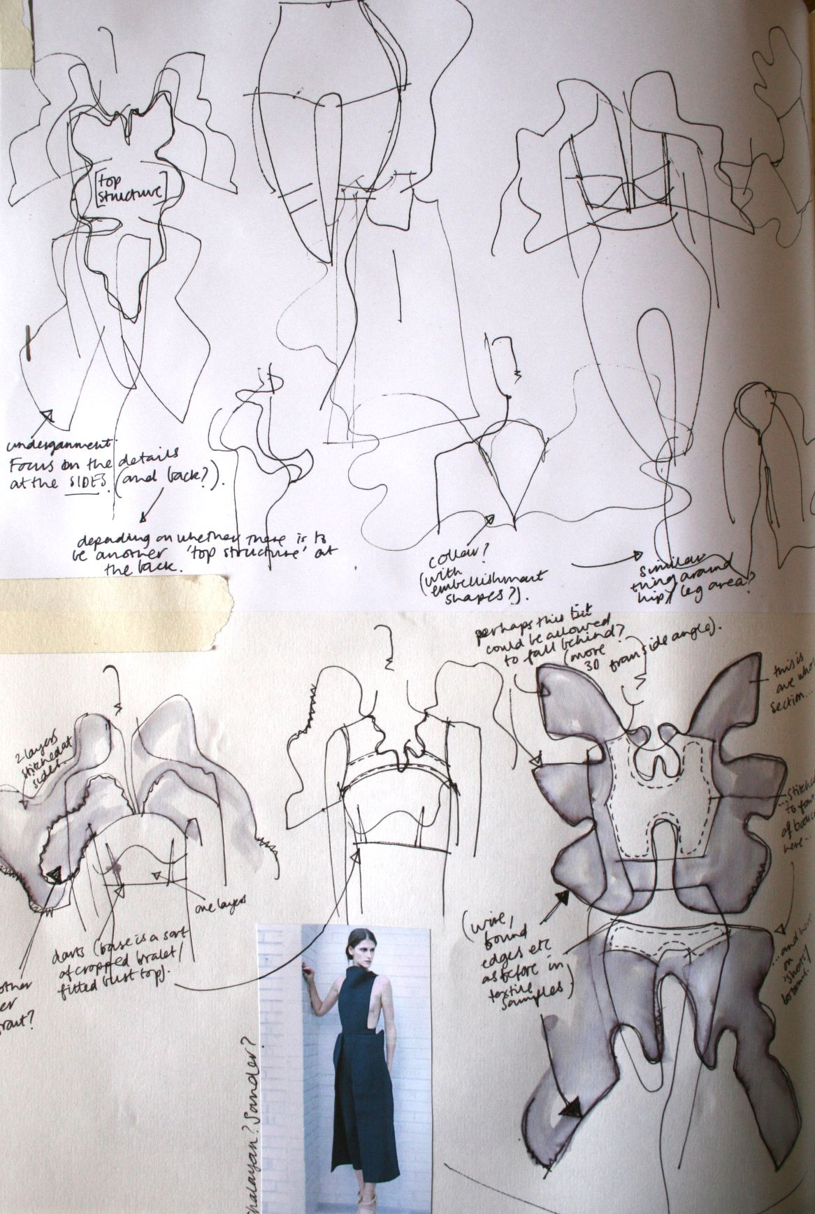 Fashion Sketchbook Fashion Design Development Process With Dress Sketches Annotation Creative Fashion Portfol Fashion Sketchbook Sketch Book Fashion Drawing