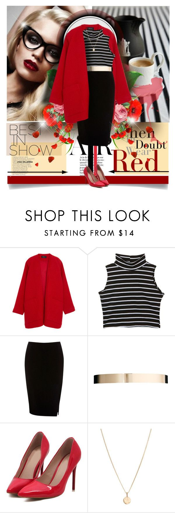 """Sophisticated in Red"" by elizamonel ❤ liked on Polyvore featuring Derek Lam, Oasis, ASOS and Laura Lee"