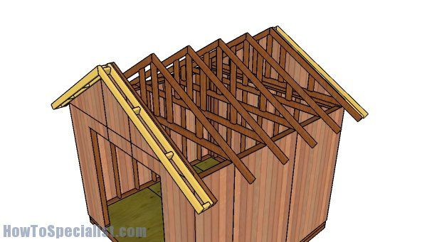 10x10 Gable Shed Roof Plans Howtospecialist How To Build Step By Step Diy Plans Barn Style Shed Diy Storage Shed Roof Truss Design