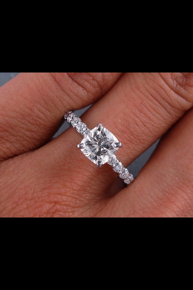 Cushion cut diamond engagement ring-perfect. My future husband better take notes