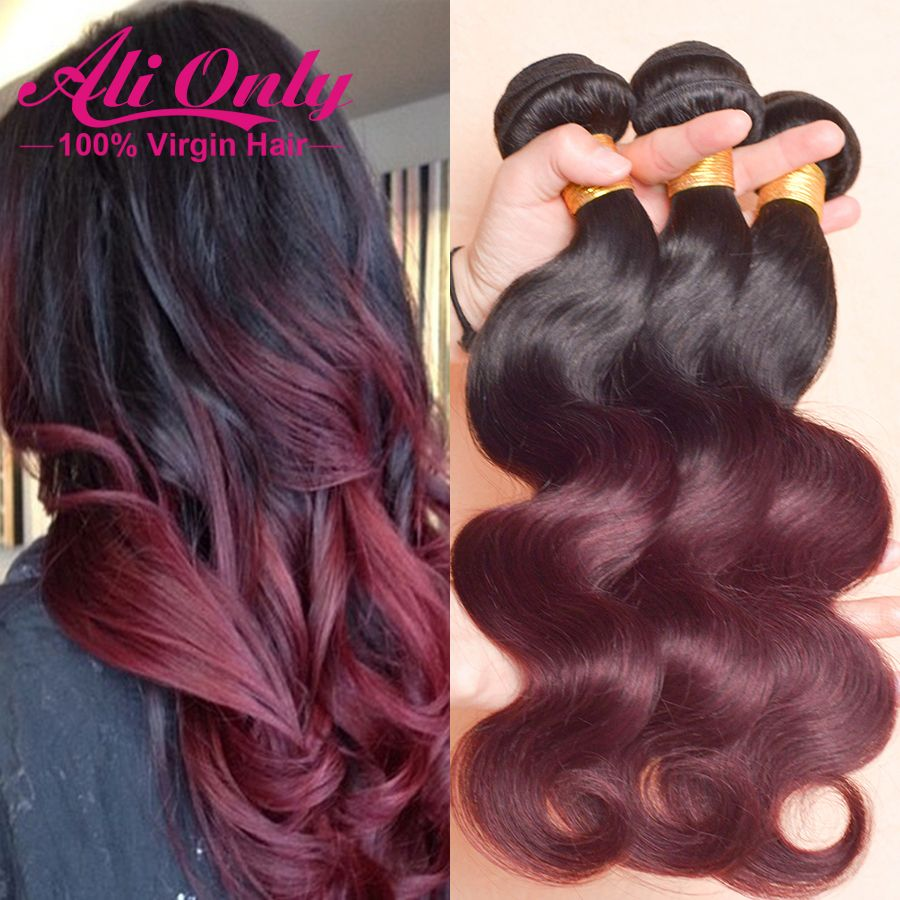7a ombre hair extensions brazilian body wave 3 bundles 1bburgundy 7a ombre hair extensions brazilian body wave 3 bundles 1bburgundy brazilian virgin hair ombre pmusecretfo Image collections