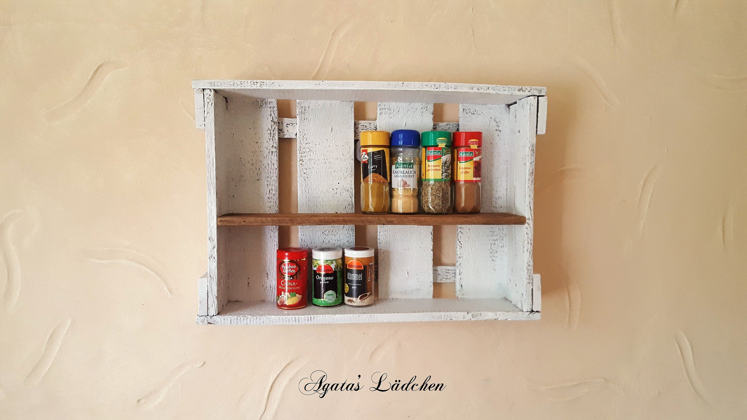 Spice Shelf Shelf Ludger From A Wine Box Country Style Wall