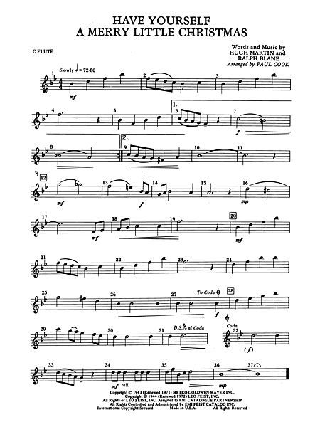 Have Yourself a Merry Little Christmas: Flute | Sheet Music ...