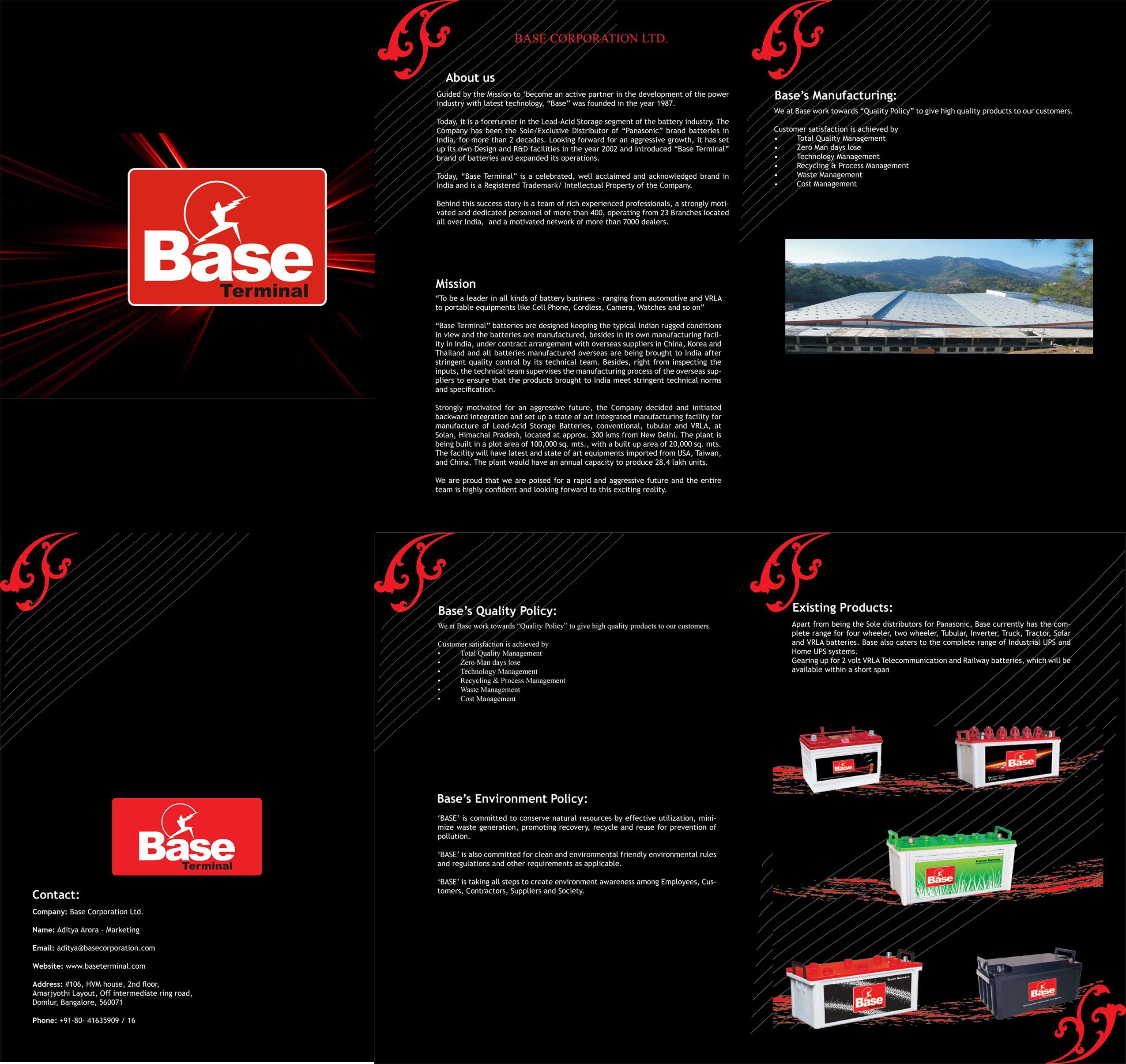 Brochure Base Graphic Design Web Design Portfolio Design