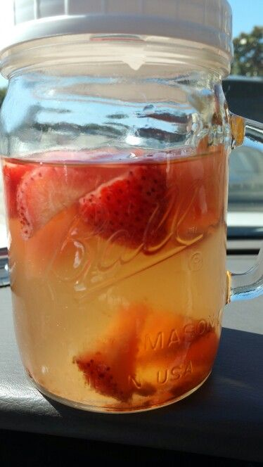 Detox water with strawberries, watermelons, apple cider vinegar, lime and cinnamon