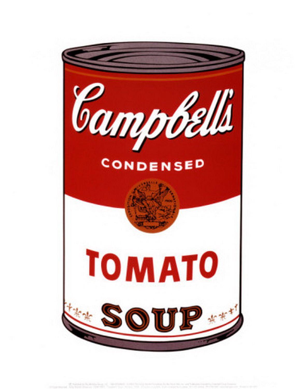 Campbell's Soup I: Tomato Soup (FS II.46) http://ilovewarhol.com/gallery/campbells-soup-i-tomato-soup/