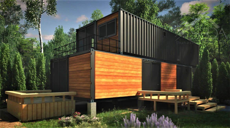 Shipping container home design in iowa planos casas - Casas prefabricadas de contenedores ...