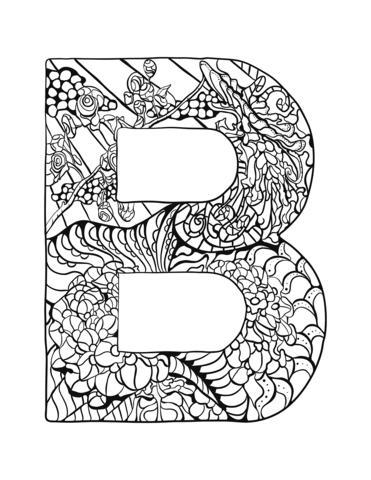 Pin By Silvica Mihaela Rusu On Mosaicos In 2020 Letter B Coloring Pages Coloring Pages Coloring Letters