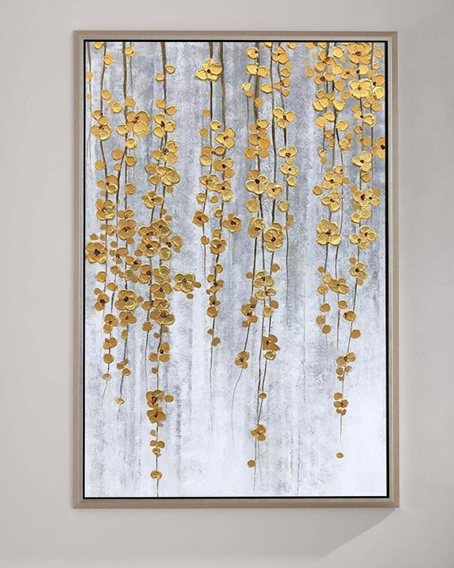 Large Gold Painting Gold Leaf Landscape Painting C