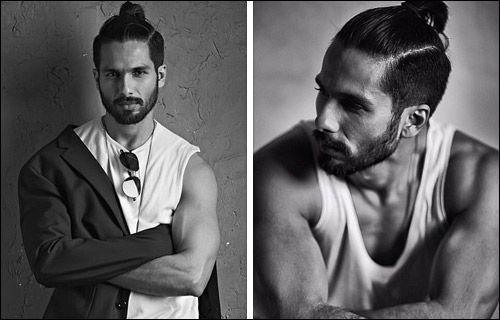 Shahid Kapoor Udta Punjab Hair Google Search Man Bun Hairstyles Men Photography Shahid Kapoor