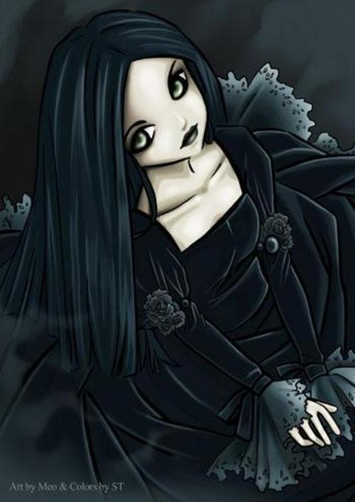 goth anime girl gothic