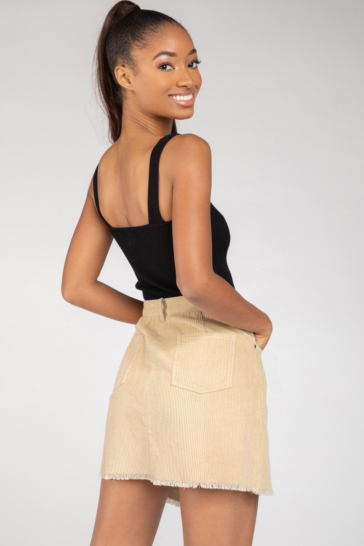 NEW Ladies TEXTURED WOVEN A LINE MINI SKIRT Nude
