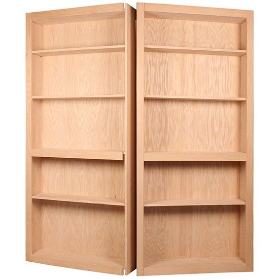 This InvisiDoor 60 Inch Bi Fold Bookcase Hidden Door Without Valance Is  Assembled, Is Made Of Unfinished Red Oak, And Is Manufactured By CSH.