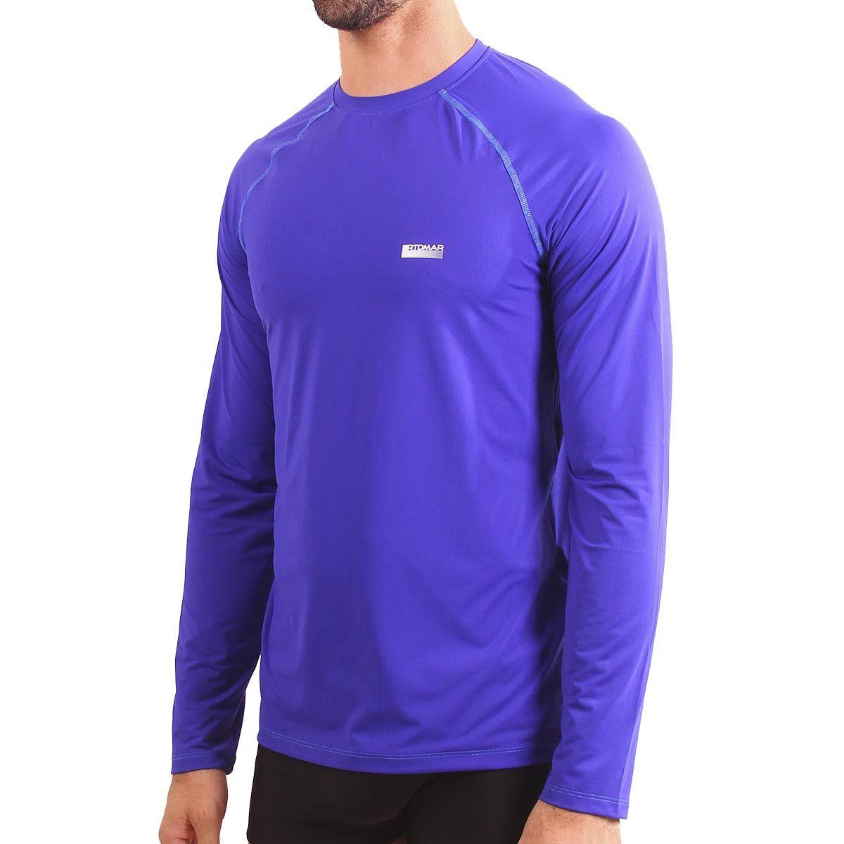 Camiseta Manga Longa Masculina Com Proteção UV  33f89bda6ffac