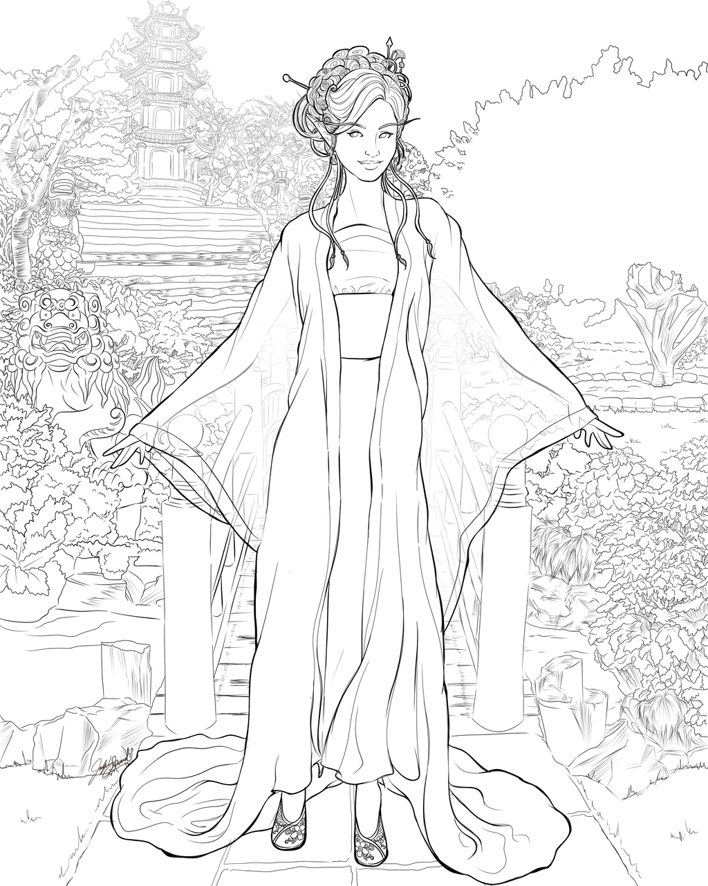 LINES: A Delicate Flower Grows In This Garden by Miserie.deviantart ...