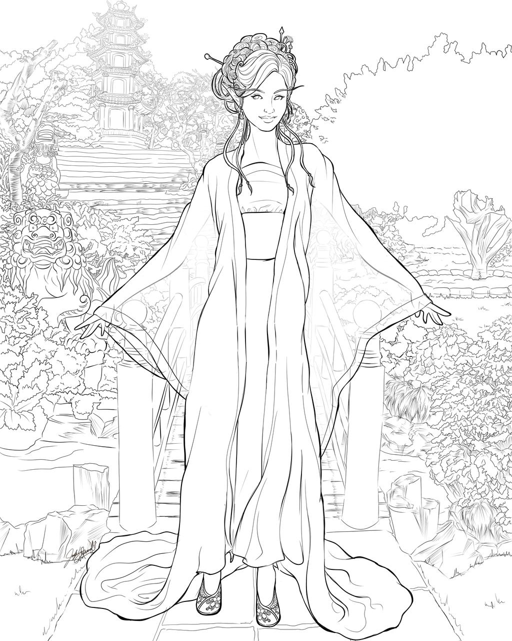 Flower garden sketch - Lines A Delicate Flower Grows In This Garden By Miserie Deviantart Com On