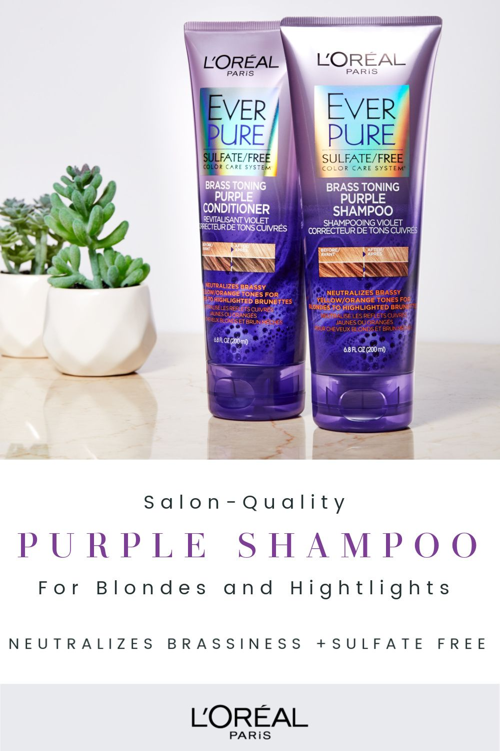 How To Maintain Blonde Hair Color Purple Shampoo For Blondes Brown And Silver Hair Brown Hair With Highlights