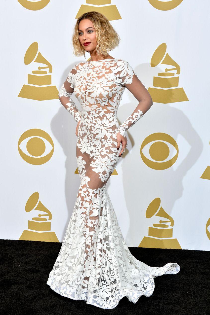 GrammysBeyonceBeauté Beyoncé Dentelle Dressed Robe De Best thrdQsC