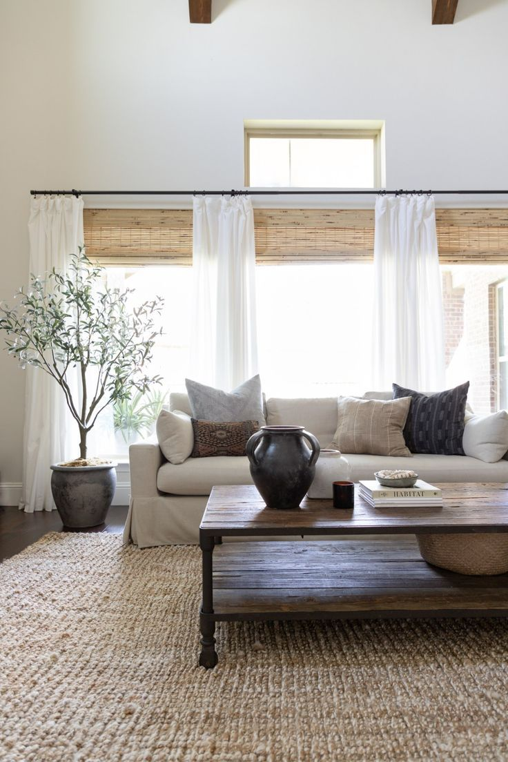 Neutral Living Room with Layered Textures
