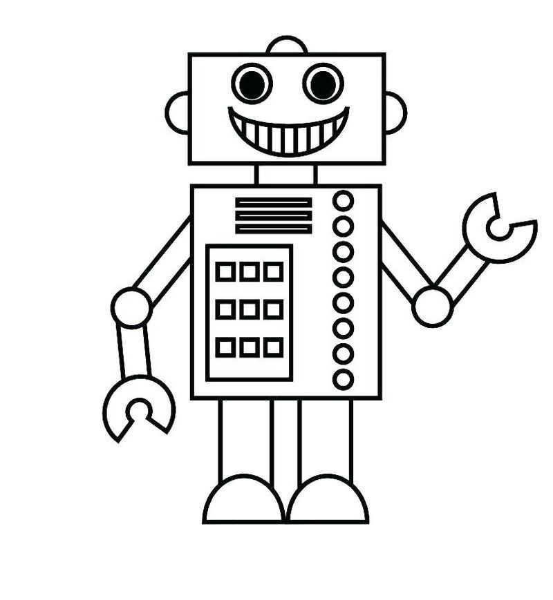 Cool Robot Coloring Pages To Print For Kids Shape Coloring Pages Coloring Pages For Kids Printable Shapes