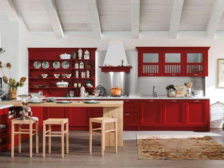 Cuisine grise et rouge 15 exemples pour vous faire une petite idée!