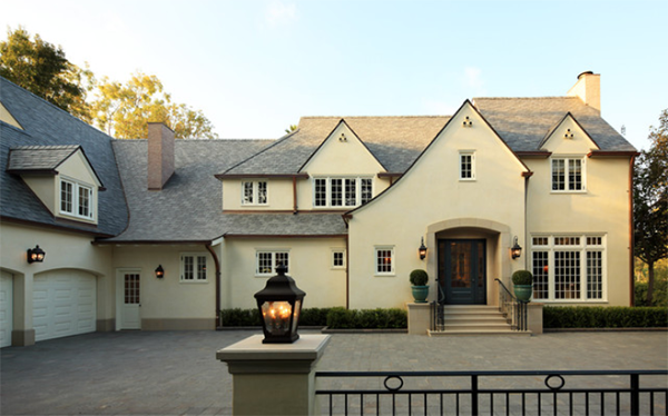Pale Yellow English Country Home Exterior Sherwin Williams Neutral Ground Used In Design Cream Ivory French Vanilla