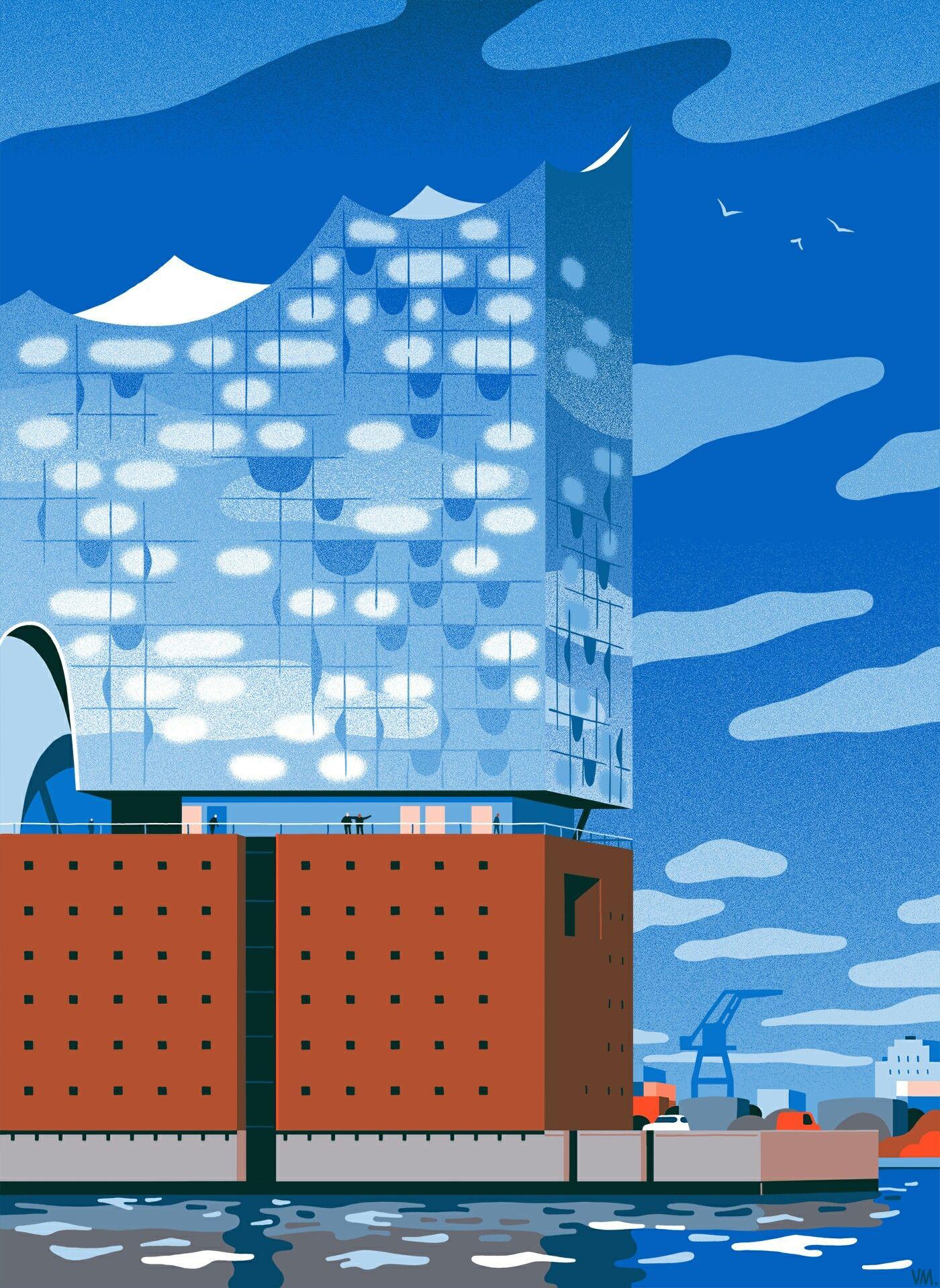 vincent mahe the new yorker city illustration germany landscape