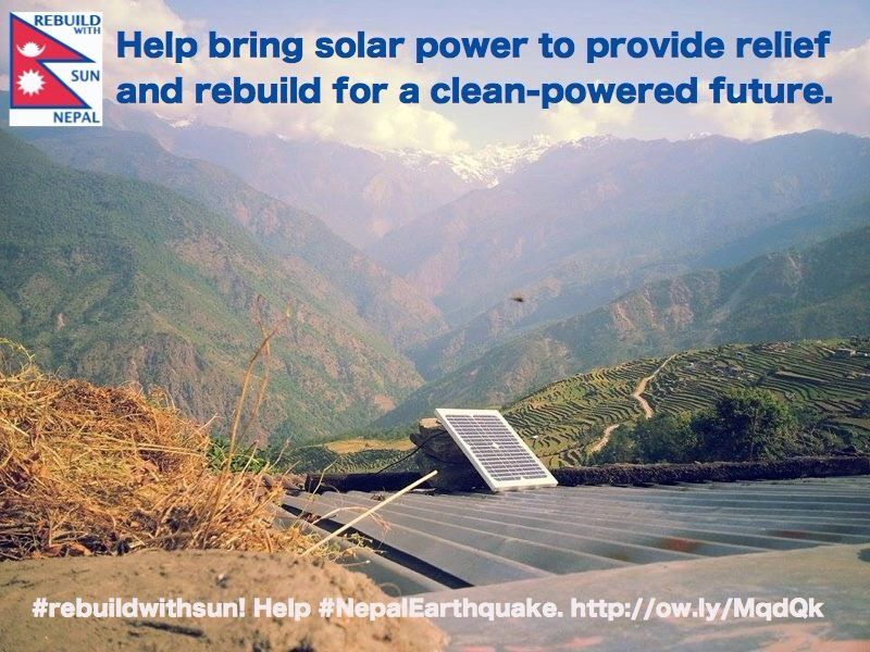 Nepal: Rebuild With Sun  We're in the home stretch of our first campaign. In ten days we've raised close to $110,000. We need your help to hit our goal, and beyond.  https://life.indiegogo.com/fundraisers/nepal-rebuild-with-sun--2/x/10697570