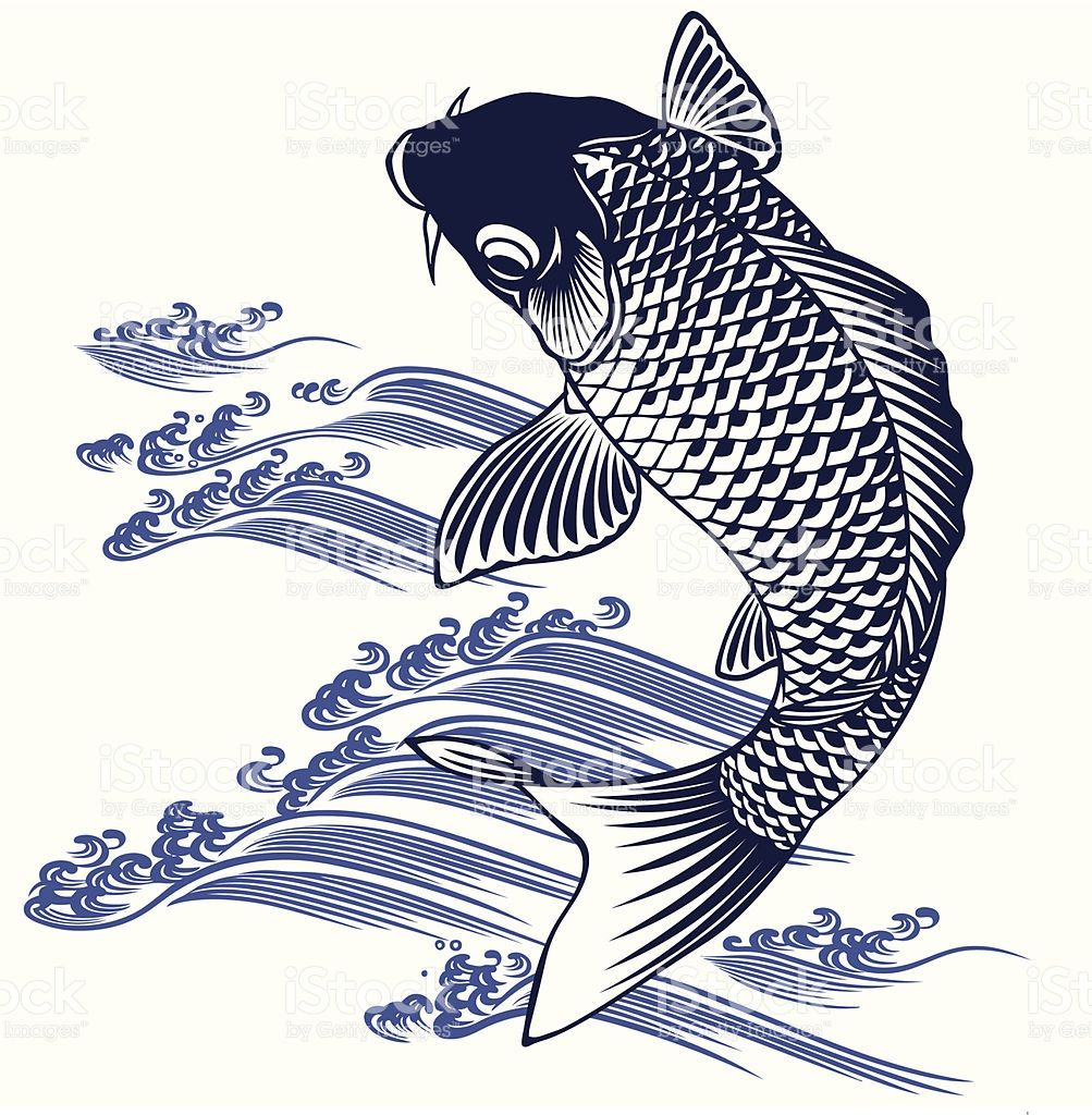 I Described A Carp In Japanese Atmosphere Of A Picture
