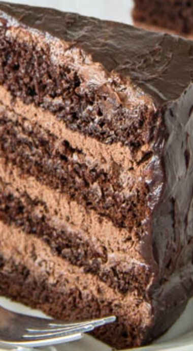 Supreme Chocolate Cake With Chocolate Mousse Filling Recette