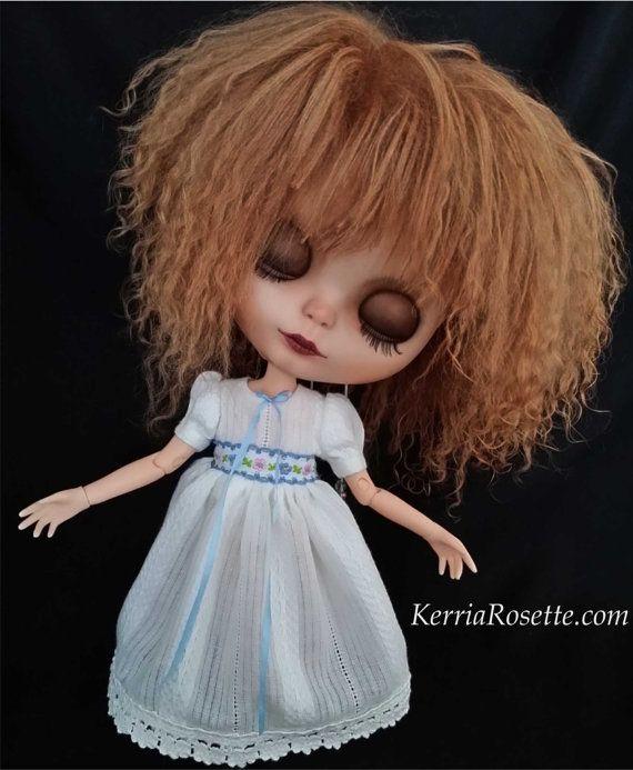 White Dress for Blythe by KerriaRosette on Etsy, $38.00