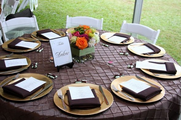 Show me your table/place settings for a buffet dinner : wedding ...