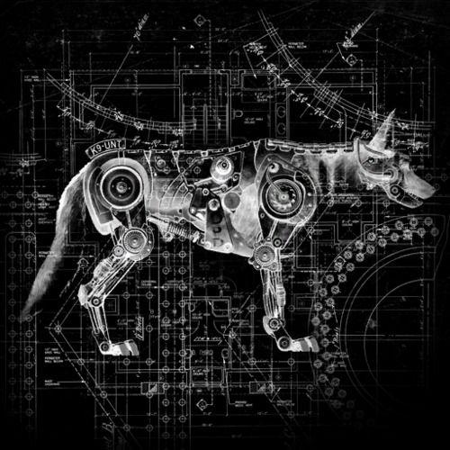 Robotic dog blueprint references post apocalyptic robotic robotic dog blueprint malvernweather Choice Image