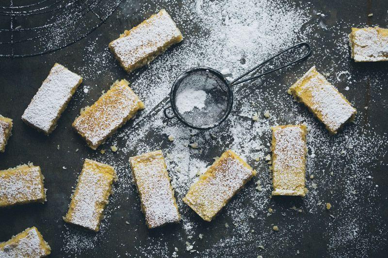 Perfect Lemon & Coconut Bars via Green Kitchen Stories #lemon #recipe