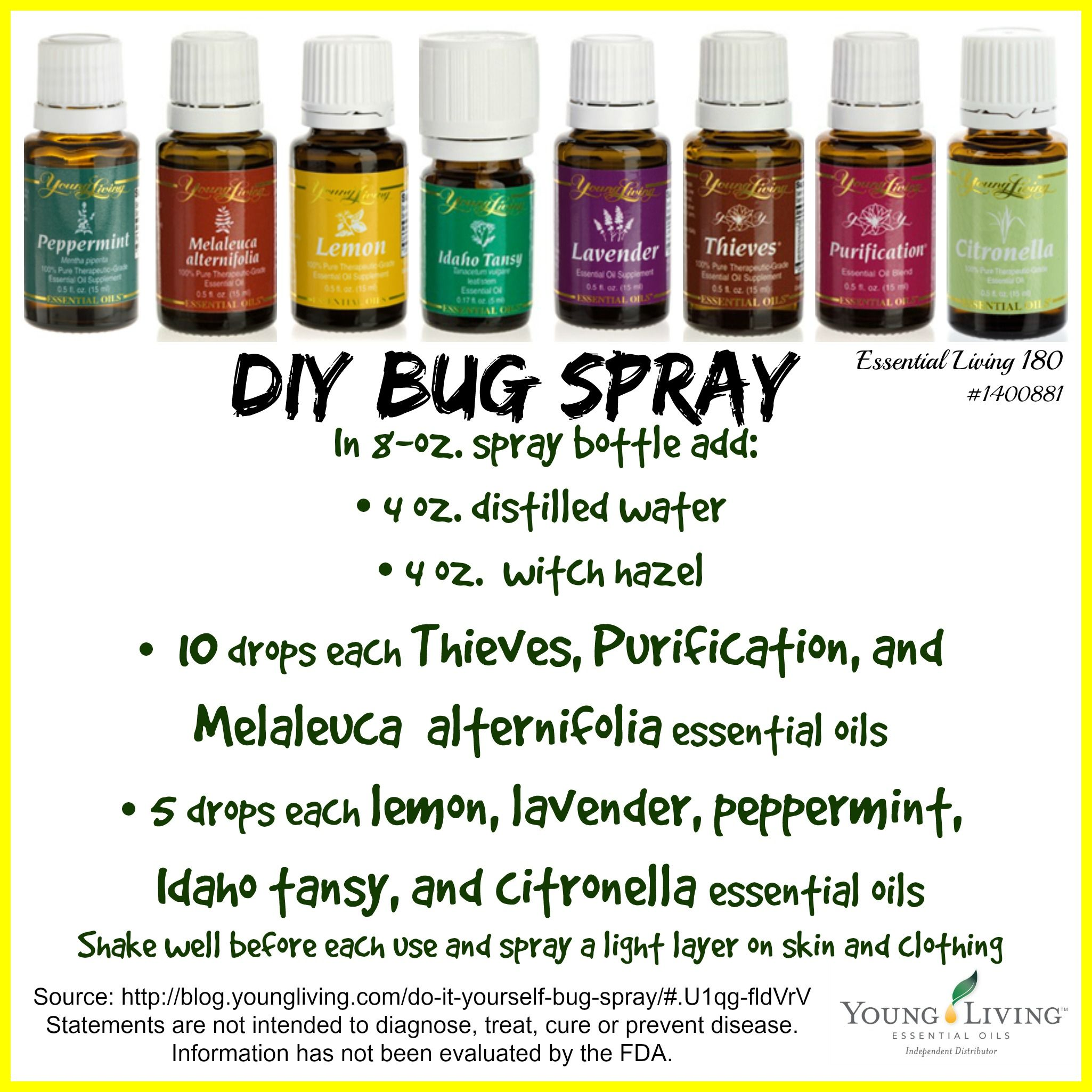 Diy bug spray ditch the chemicals made with thieves