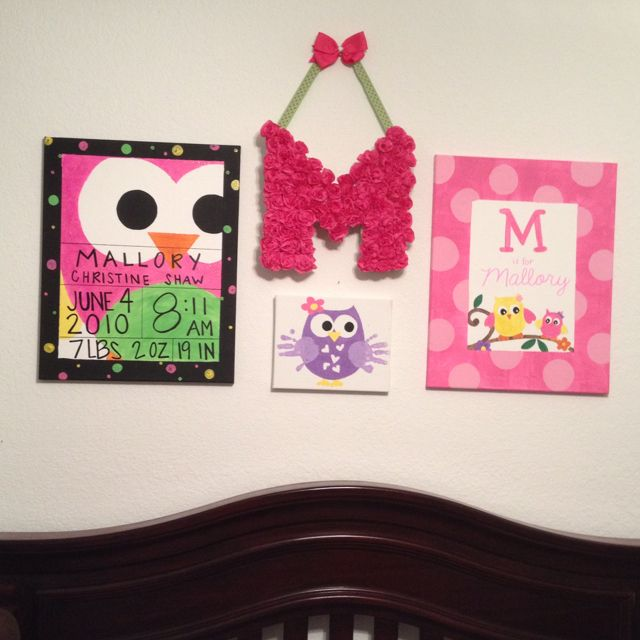 """I love how it all turned out!! :) I must say I am quite crafty and my daughter is going to have a precious """"big girl room when I'm done!!"""