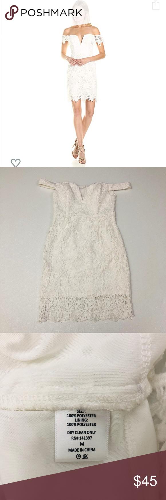 Astr The Label Daniela White Lace Dress Size M Lace White Dress Lace Overlay Dress Lace Dress [ 1740 x 580 Pixel ]